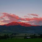 Red Snowy Peaks by cawh
