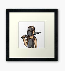 Rust Knight Framed Print