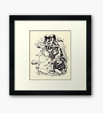 The Zankiwank & the Bletherwitch by Shafto Justin Adair Fitz Gerald art Arthur Rackham 1896 0135 Red Cavern Swallows All Framed Print