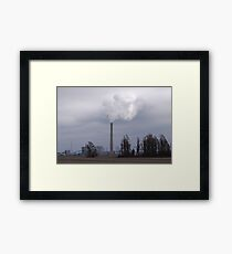 Is It Clouds or Is It Polution? Framed Print