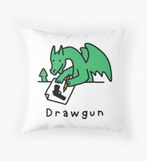 Drawgun Throw Pillow