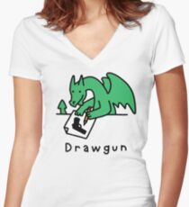 Drawgun Fitted V-Neck T-Shirt