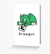 Drawgun Greeting Card