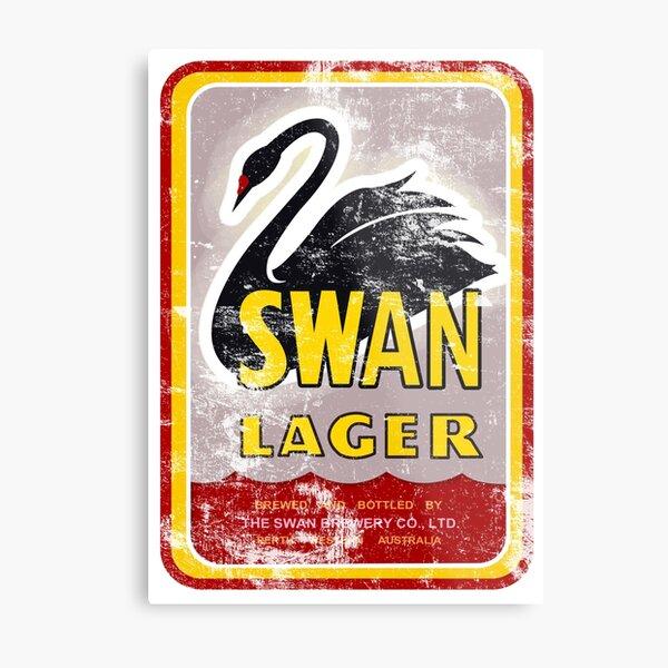 Swan Lager Metal Print