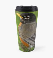 Robin in the Grass Travel Mug