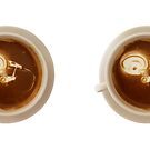 Coffee Art - Starship in Space by Crowden