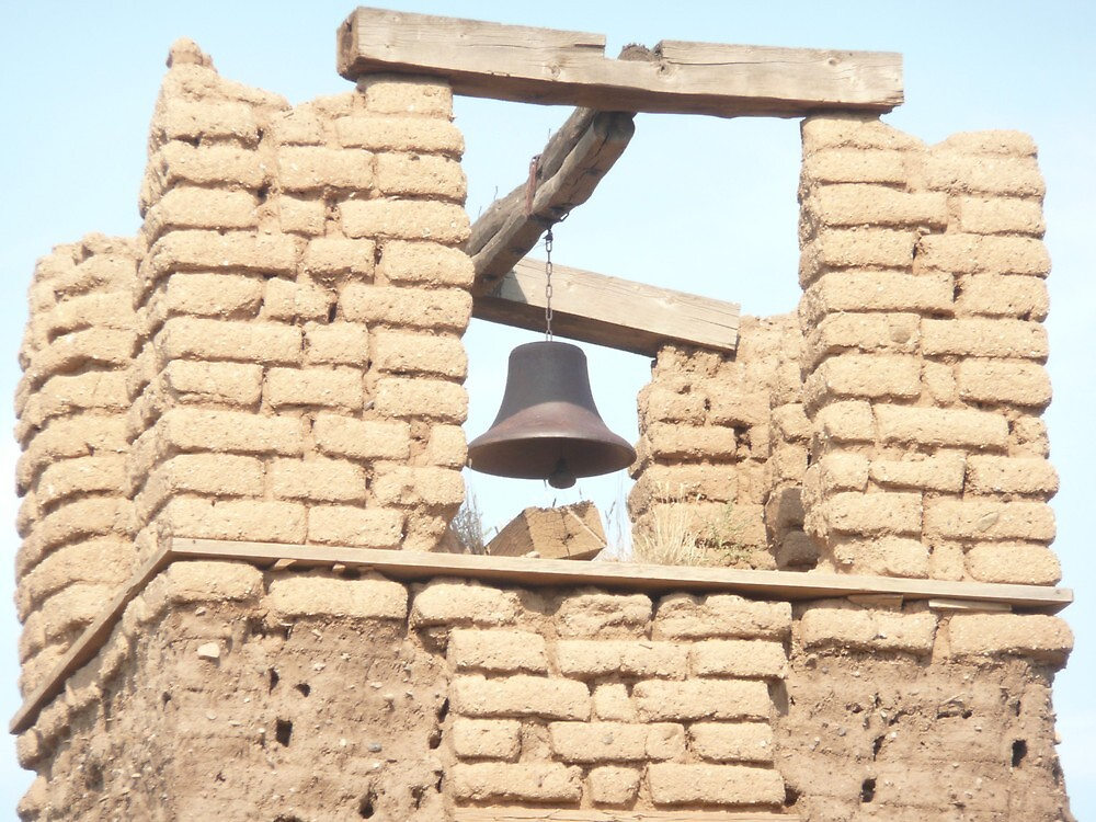 Brick Belltower at the Taos Pueblo. by Mywildscapepics