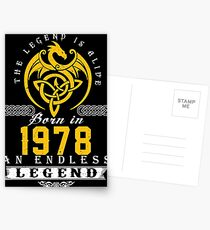 The Legend Is Alive - Born In 1978 Postcards