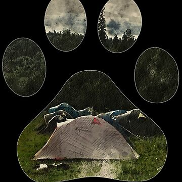 Dog paw camping best gift for puppies lover by kimoufaster