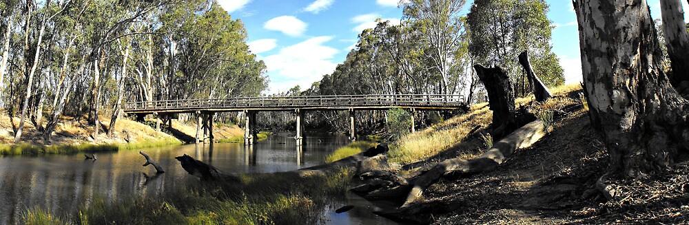 Creek Bridge - Panorama by Kay Coates