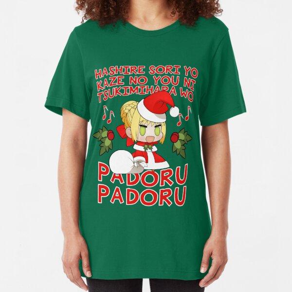 PADORU PADORU (Red Text) Slim Fit T-Shirt