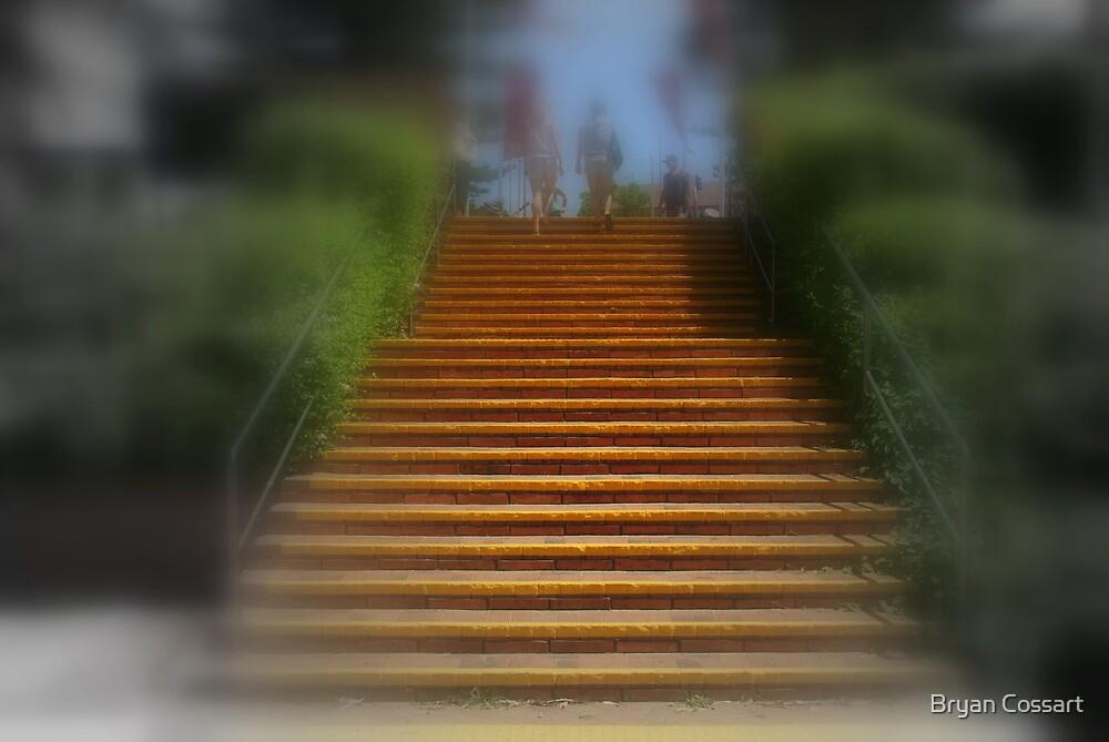 Orange stairs by Bryan Cossart