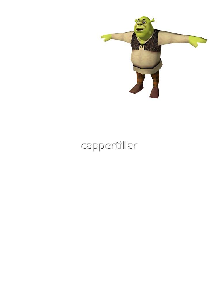 Shrek T Pose Kids T Shirt By Cappertillar Redbubble