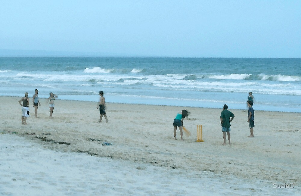 Beach Cricket by SuzieD