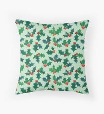 Holly Jolly - Winterberry Throw Pillow