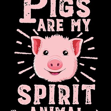 Pigs Are My Spirit Animal T-Shirt Women Funny Farmer Kawaii by 14thFloor