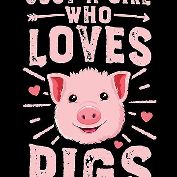 Just A Girl Who Loves Pigs T-Shirt Women Funny Farmer Gift by 14thFloor