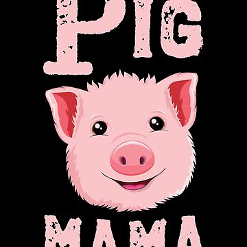 Pig Mama T-Shirt Kids Women Funny Farmer Farm Love Gift by 14thFloor