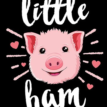 Little Ham Pig T-Shirt Kids Girls Cute Farm Animal Farmer by 14thFloor
