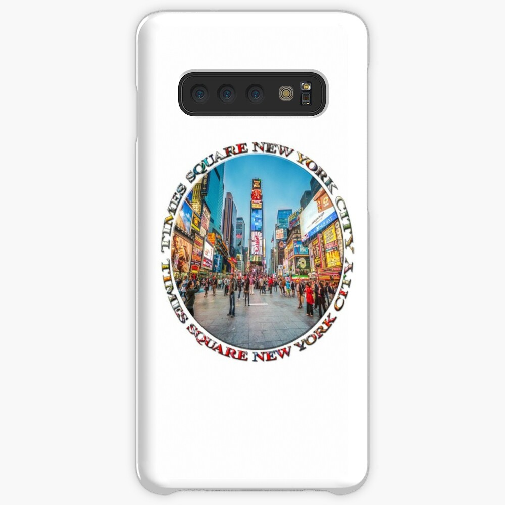 Times Square Sparkle (badge on white) Case & Skin for Samsung Galaxy