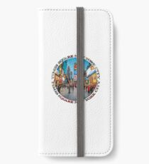 Times Square Sparkle (badge on white) iPhone Wallet/Case/Skin
