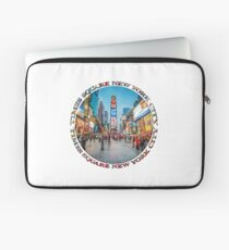 Times Square Sparkle (badge on white) Laptop Sleeve
