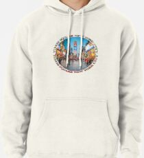 Times Square Sparkle (badge on white) Pullover Hoodie