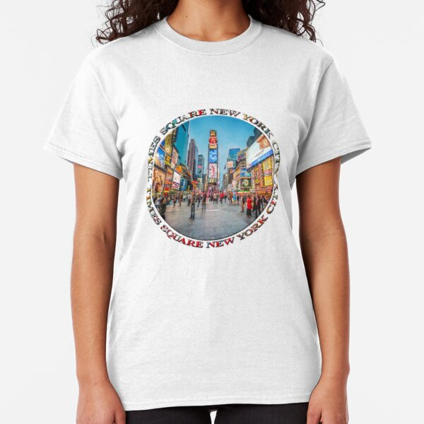 Times Square Sparkle (badge on white) Classic T-Shirt