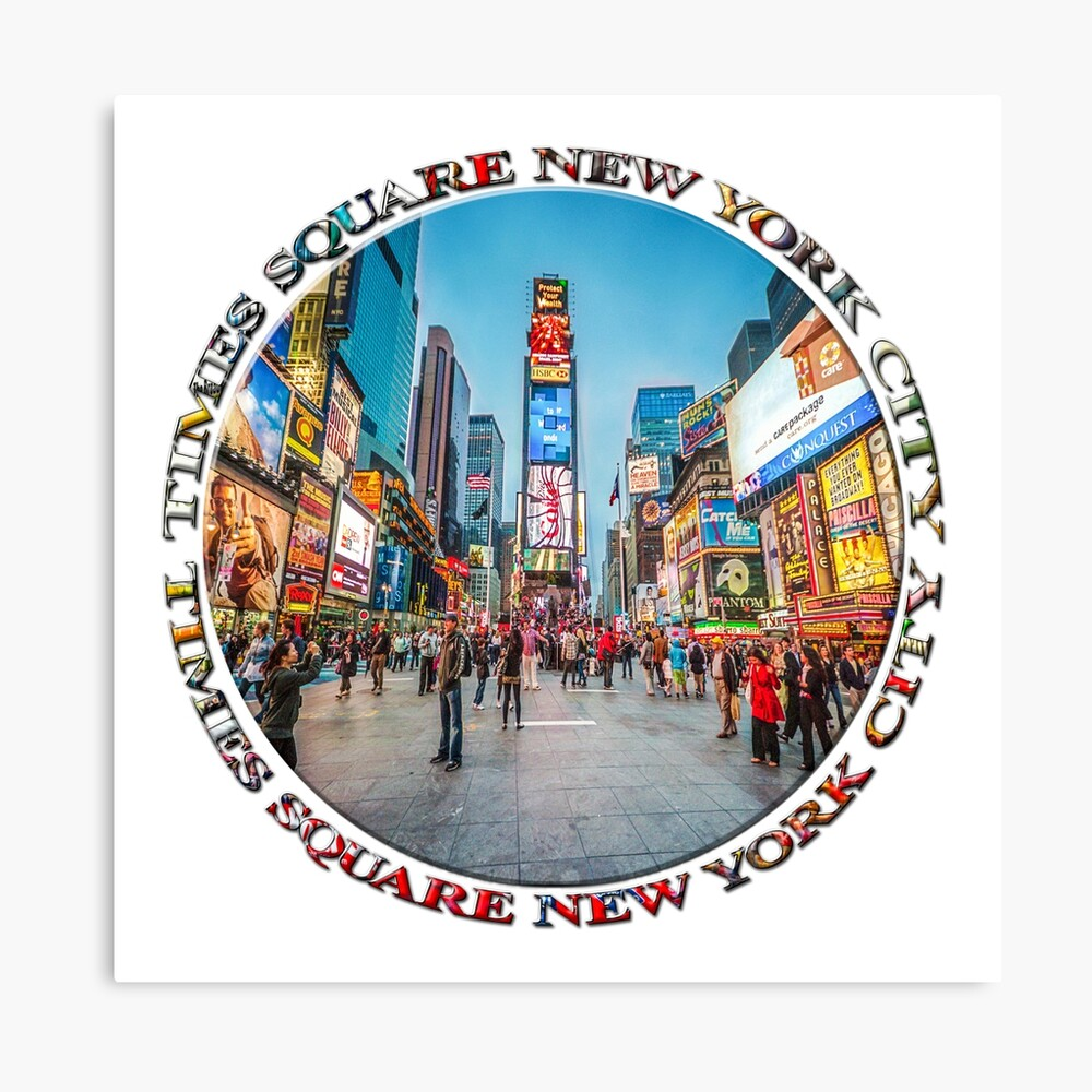 Times Square Sparkle (badge on white) Canvas Print