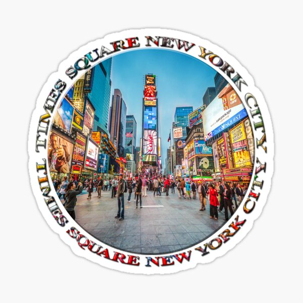 Times Square Sparkle (badge on white) Sticker