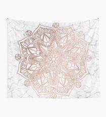Rose Gold Mandala auf Marmor Wandbehang