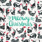 Meowy Christmas - Mint Type von Cat Coquillette