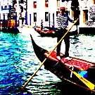 Gondolier and his magic red carpet ride by Christine Oakley