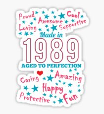 Made In 1989 - Aged To Perfection Sticker