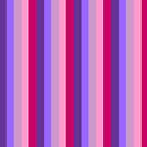 The Stripe Collection - Violet Flora by Stephanie Rachel Seely
