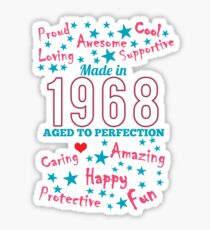 Made In 1968 - Aged To Perfection Sticker