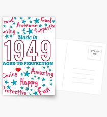 Made In 1949 - Aged To Perfection Postcards