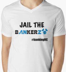 JAIL THE BANKERZ Men's V-Neck T-Shirt
