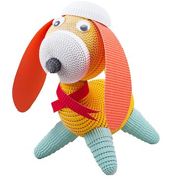 Colorful dog by CrazyPaperCraft