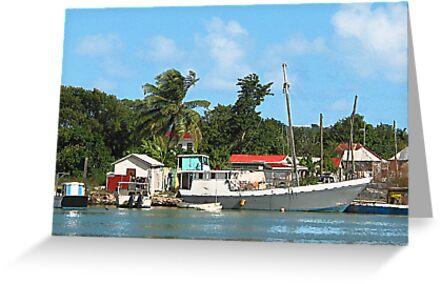 Docked Boats at Antigua by Susan Savad
