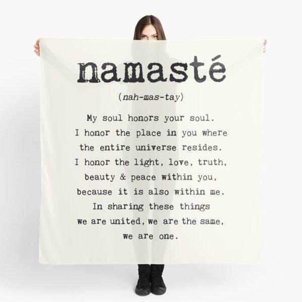 Namaste. Scarf