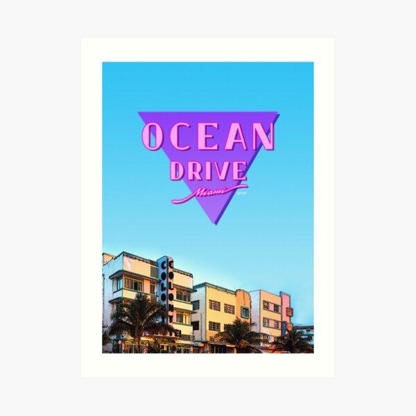 Ocean Drive Art Print