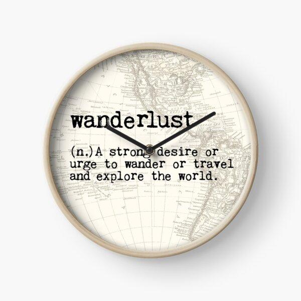 Wanderlust Clock