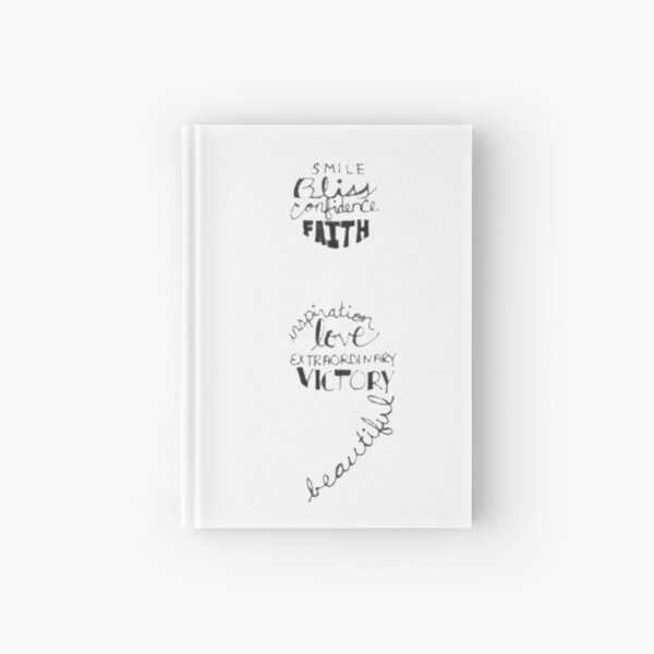 Word Art Semi Colon  Hardcover Journal