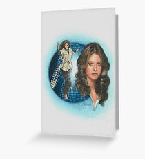 The Bionic Woman! Greeting Card