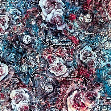 Steampunk Flowers by rizapeker