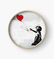 Banksy - Girl with a balloon Clock