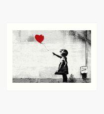 Banksy - Girl with a balloon Art Print