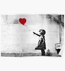 Póster Banksy - Chica con un globo