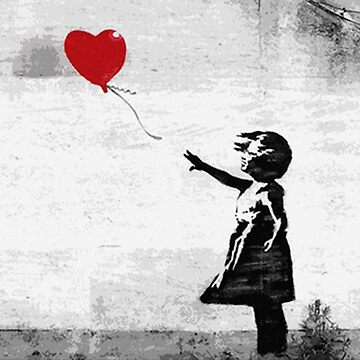 Banksy - Girl with a balloon by hellfinger